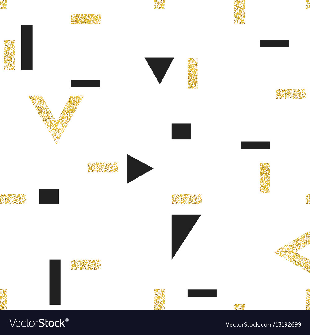 Gold geometric seamless pattern template for
