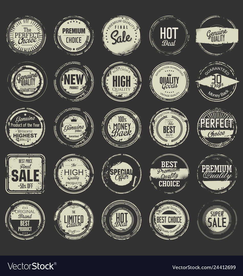 Grunge rubber stamp premium quality collection 2