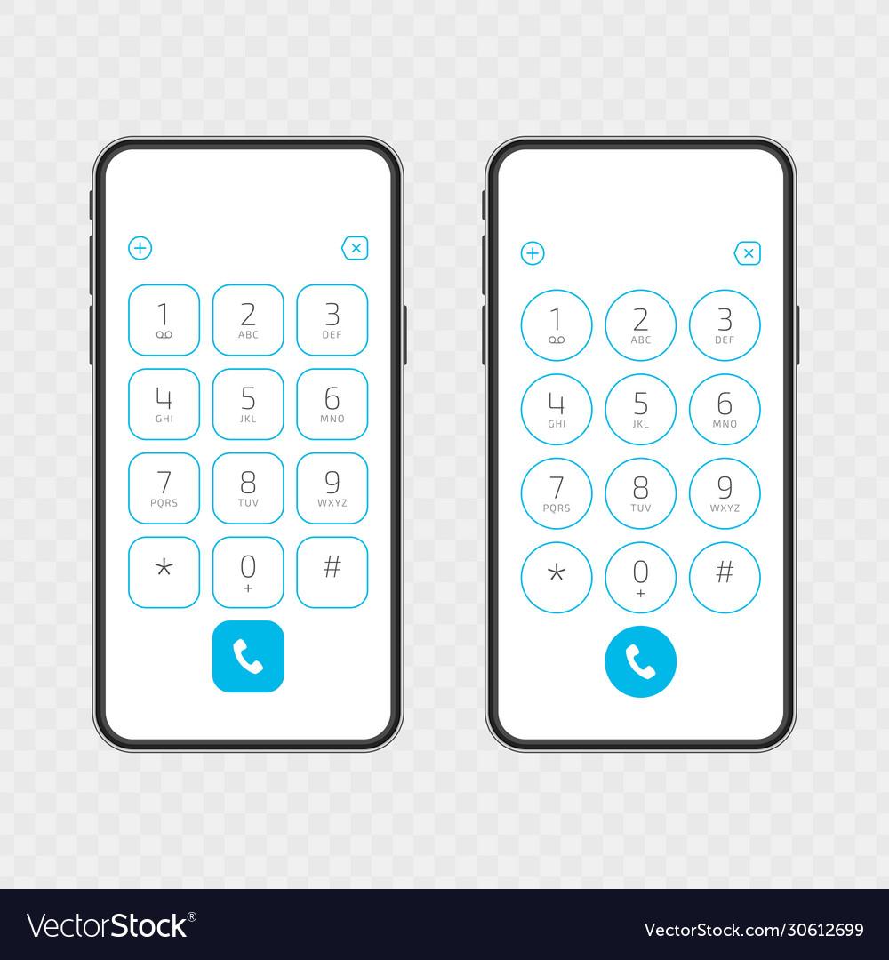 Keypad on smartphone