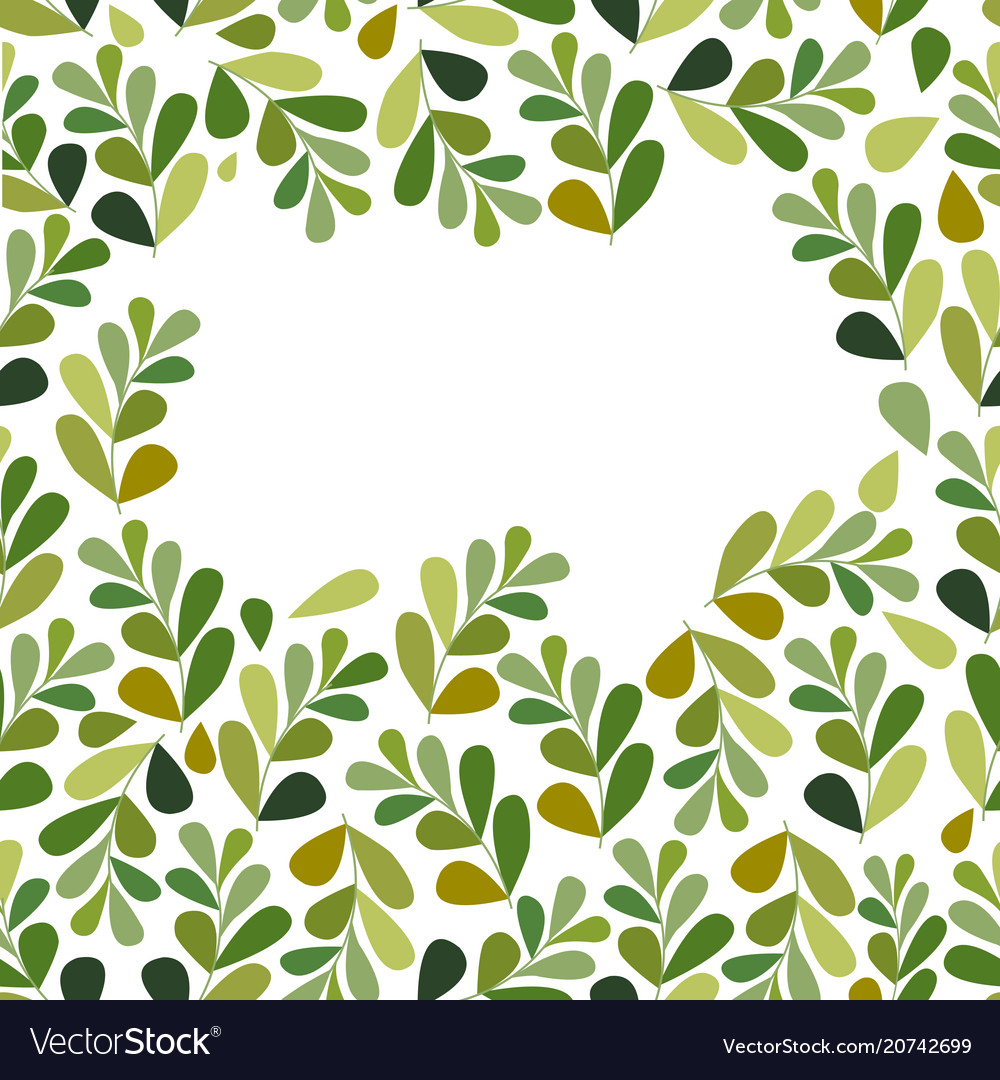 Leaves set isolated on white background vector image