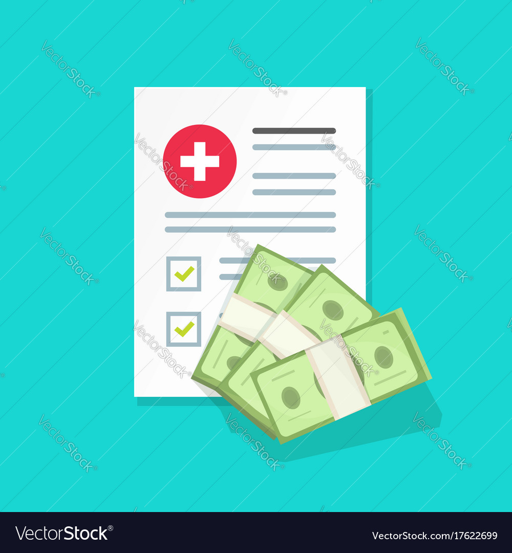 Medical document and money