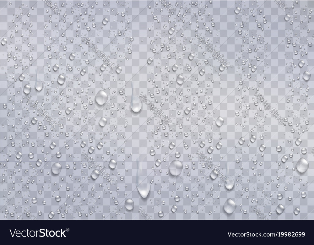 Realistic water droplets on the transparent window