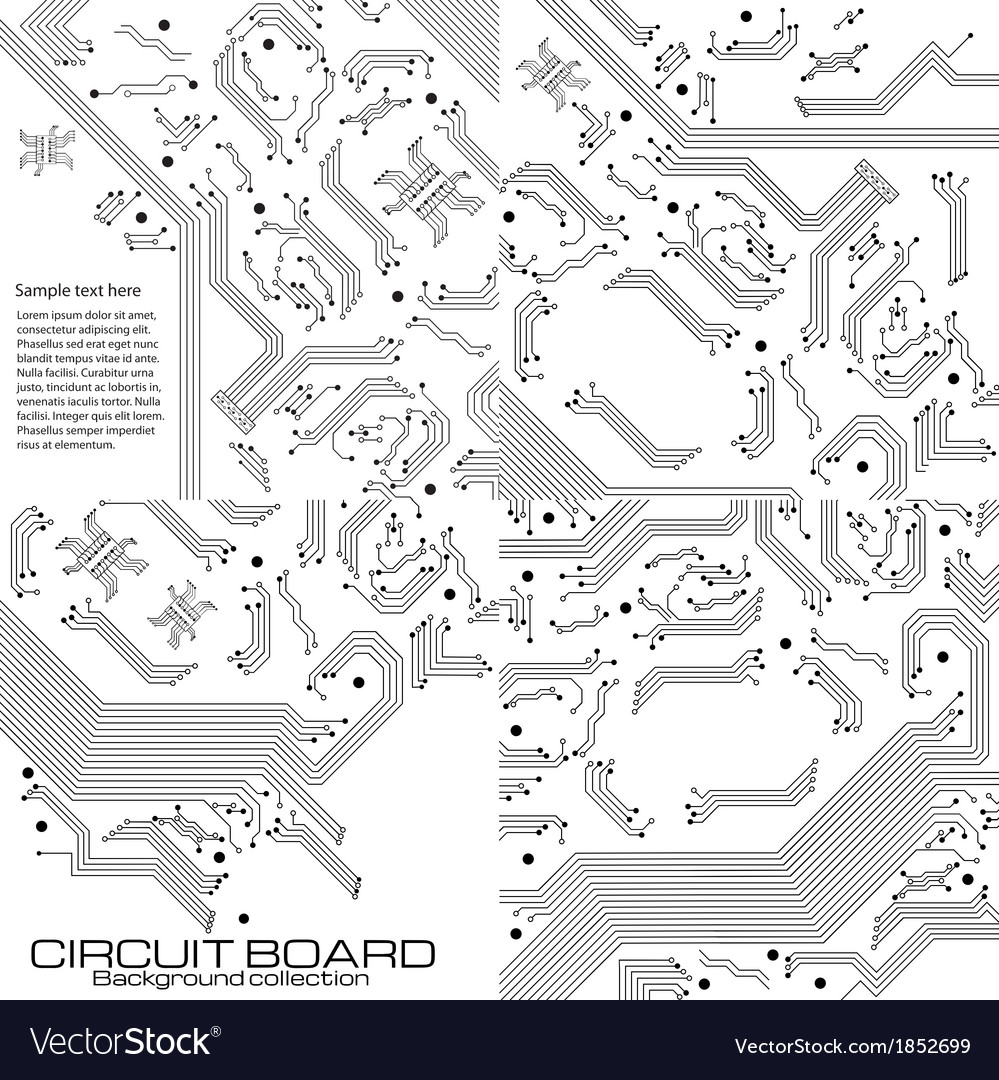 Set Of Technology Backgrounds Royalty Free Vector Image Green Background Computer Chip Circuit Board Texture