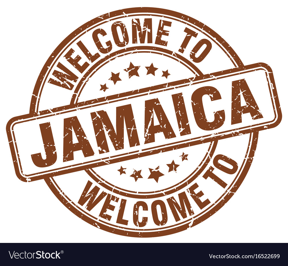 Welcome to jamaica vector image