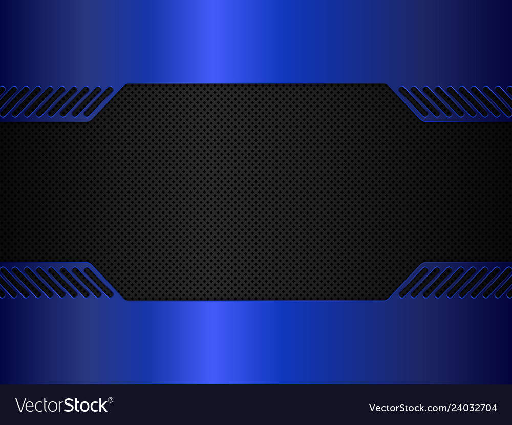 Black And Blue Metal Background Royalty Free Vector Image