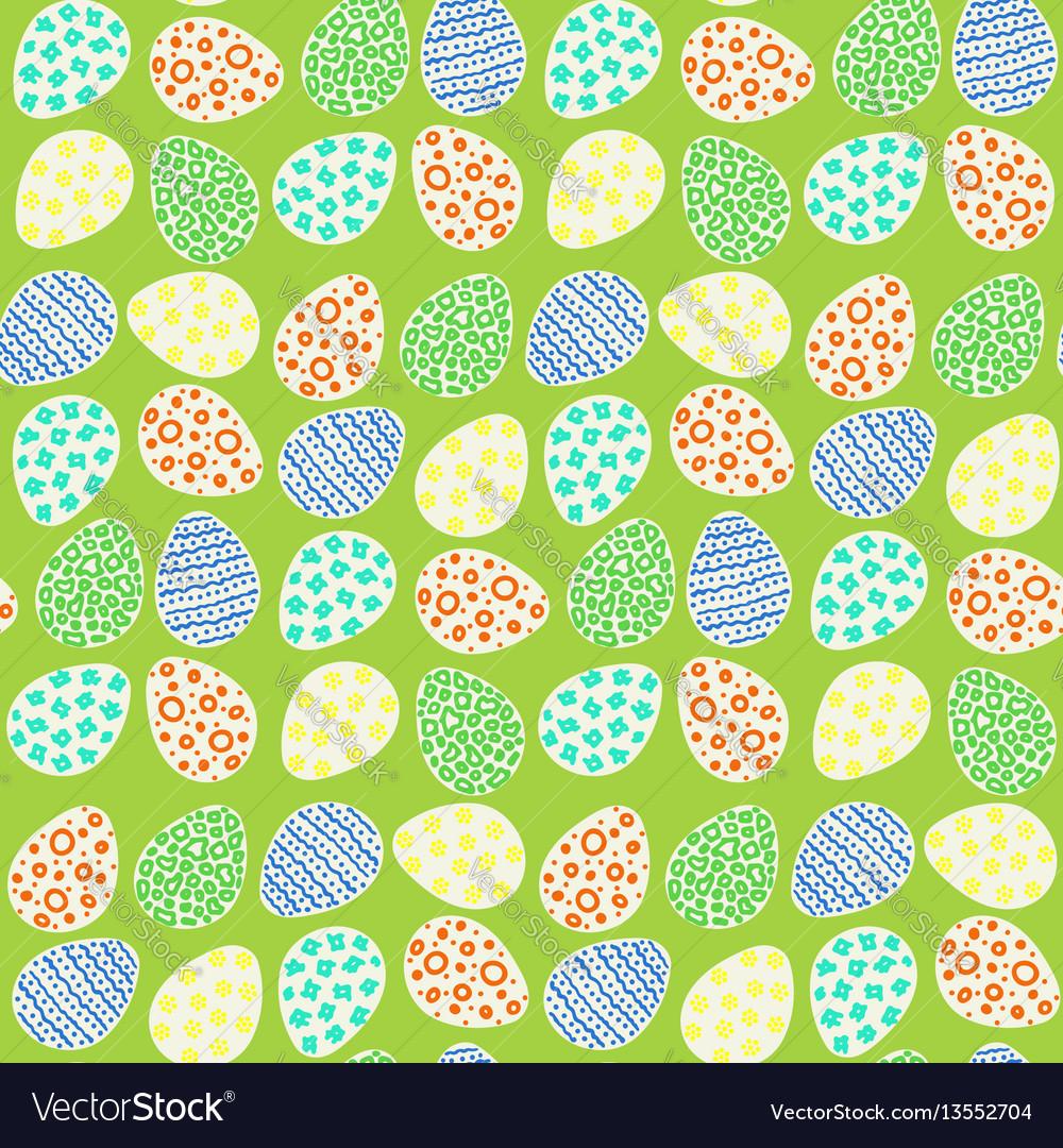 Happy easter eggs pattern