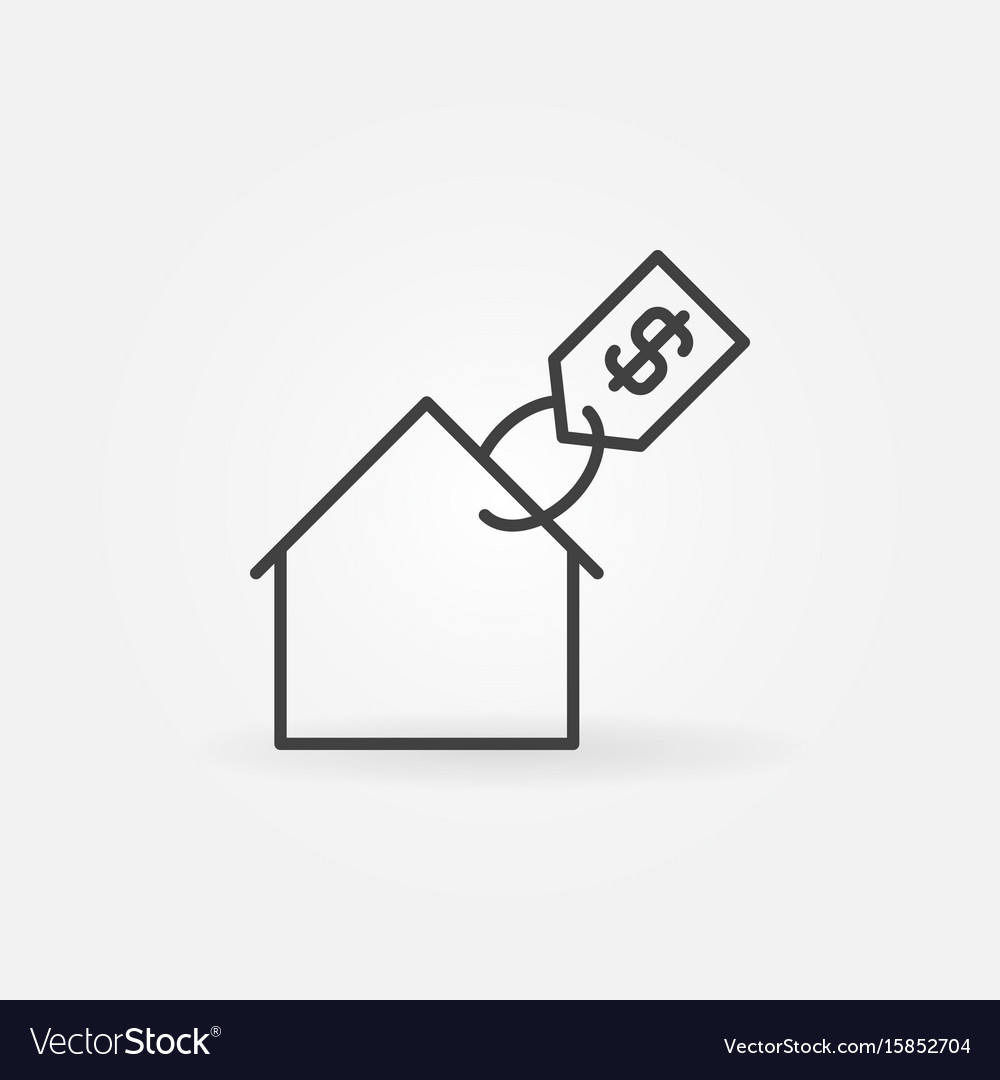 House With Price Tag Icon