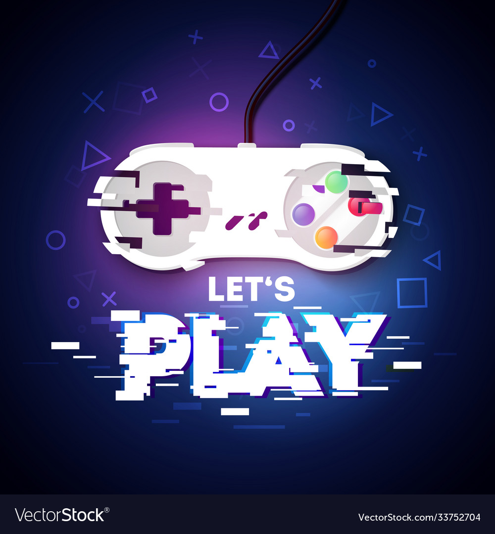 Lets play gamer design with glitch game controller