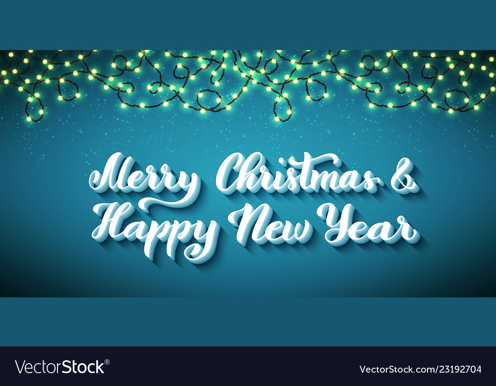 Merry christmas and happy new year template for