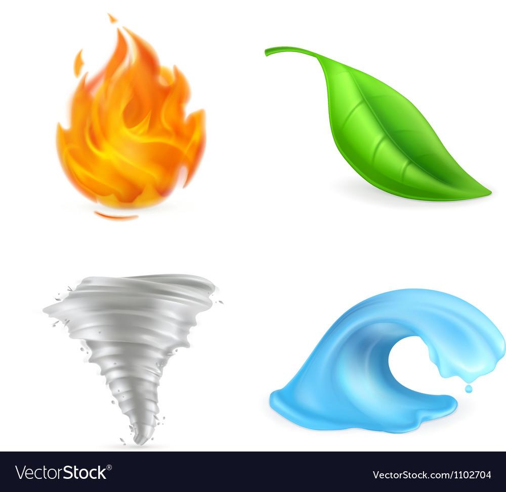 Natural elements vector image