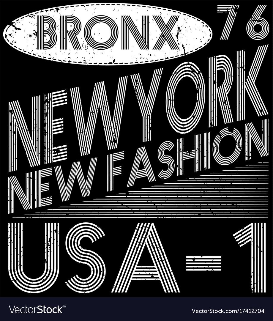 Newyork city typography slogan t-shirt graphics