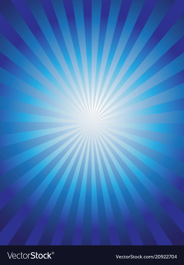 Shining blue sun ray background