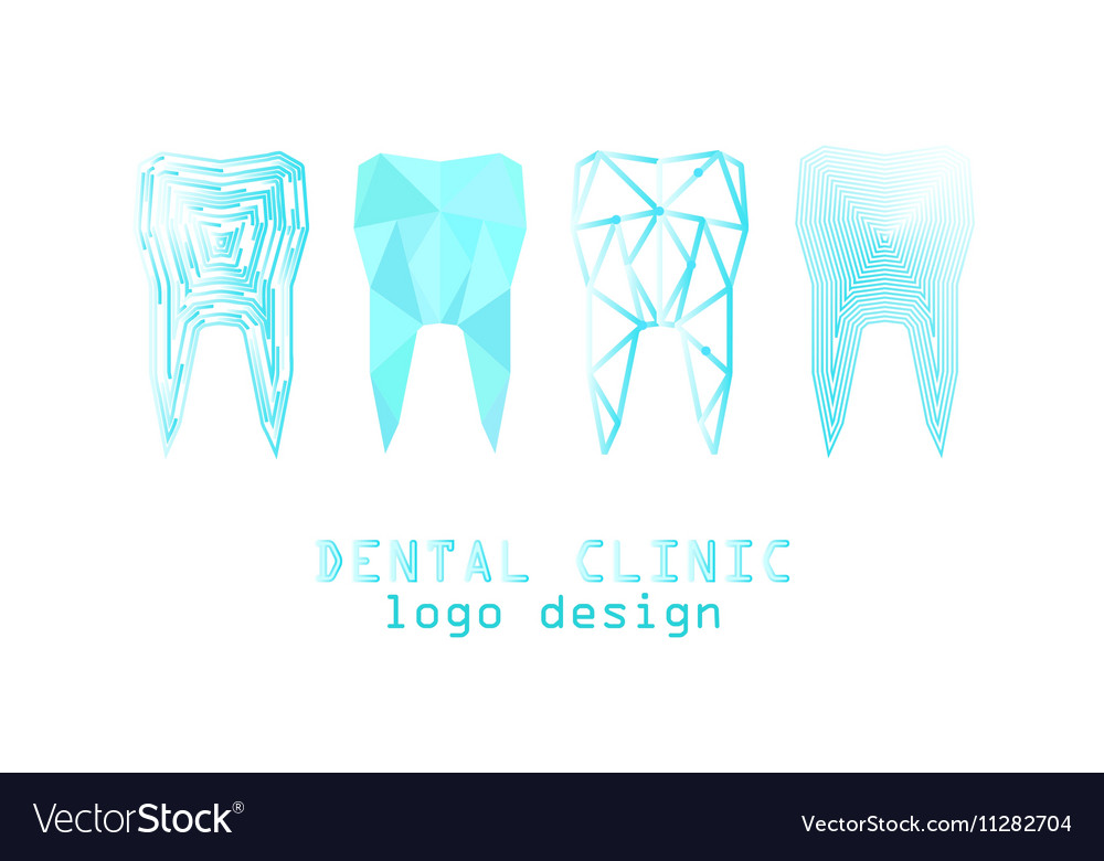 Tooth logo set