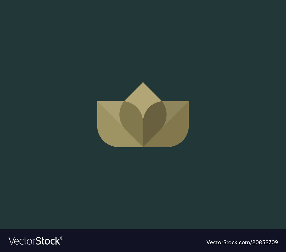Abstract flower logo icon design elegant crown