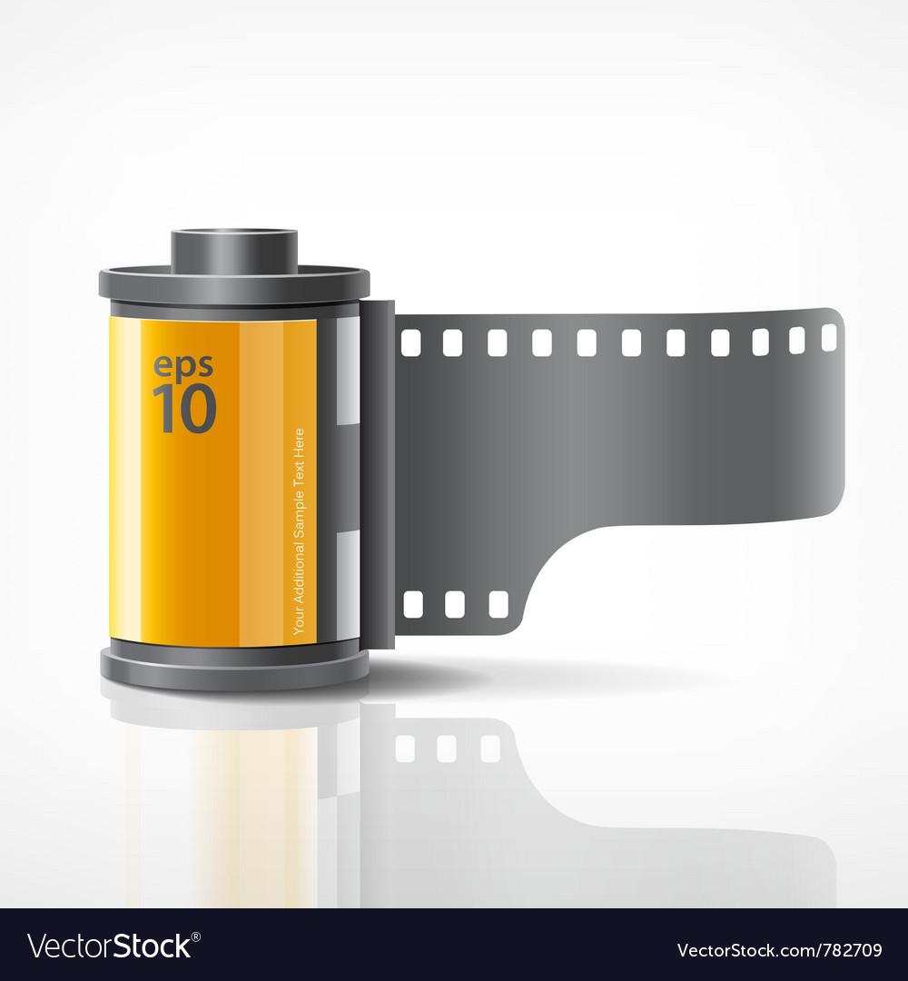 Camera film roll vector image