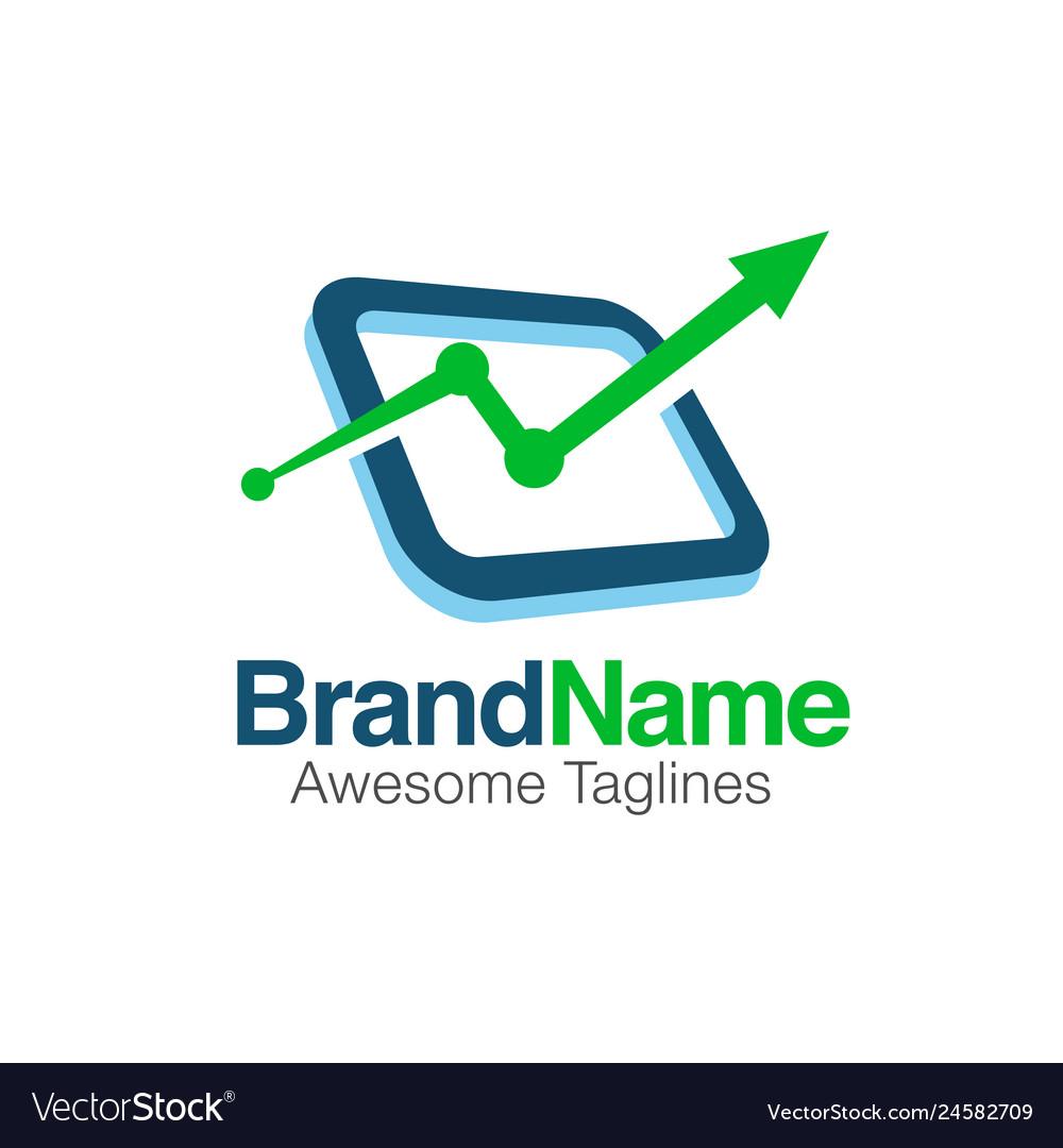 Creative financial market logo
