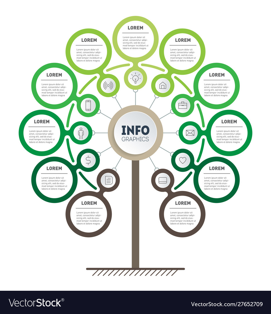Infographic technology or education process
