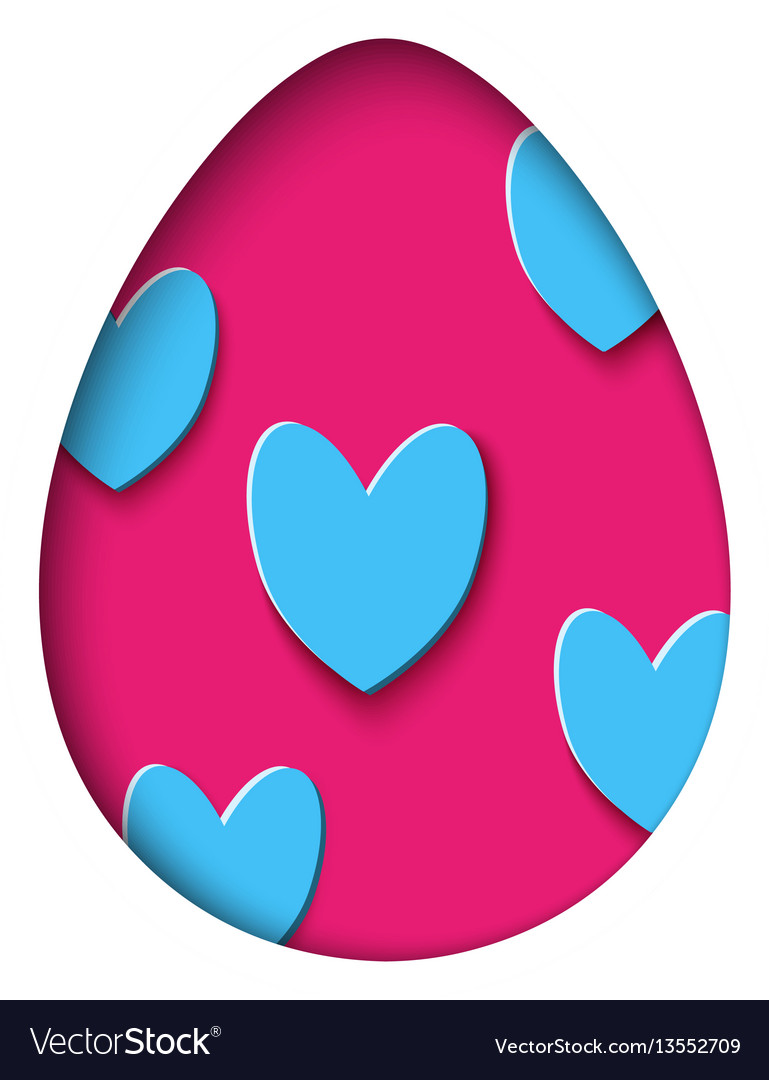 Isolated egg in paper cut style for banner