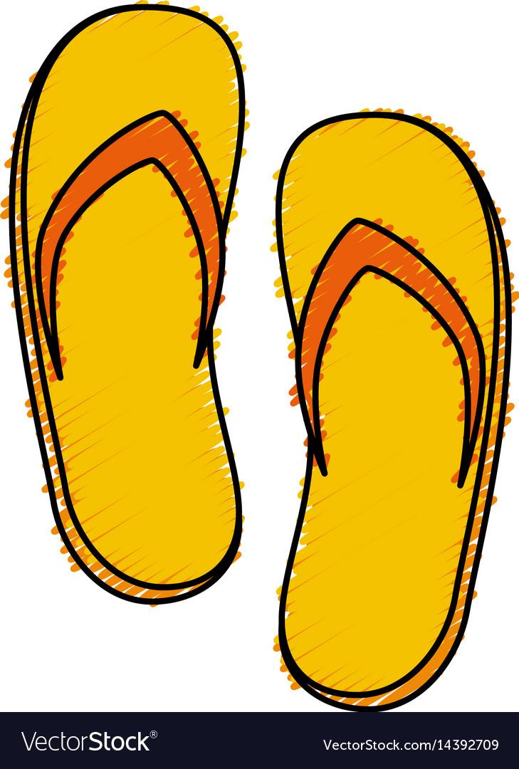 Spa flip flops icon
