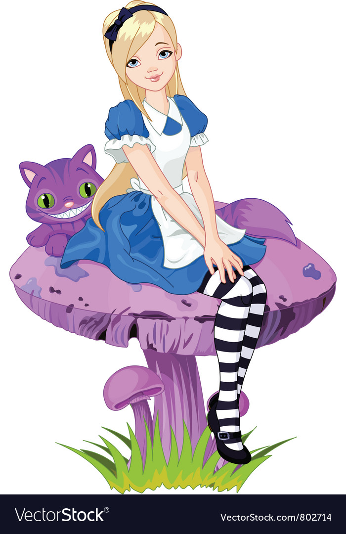alice in wonderland royalty free vector image vectorstock