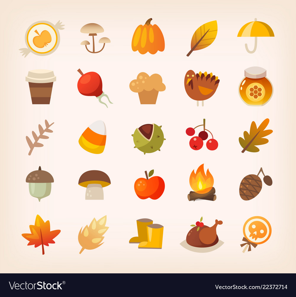 Autumn signs and symbols