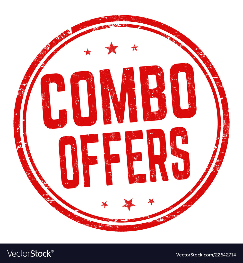 Combo offers sign or stamp Royalty Free Vector Image
