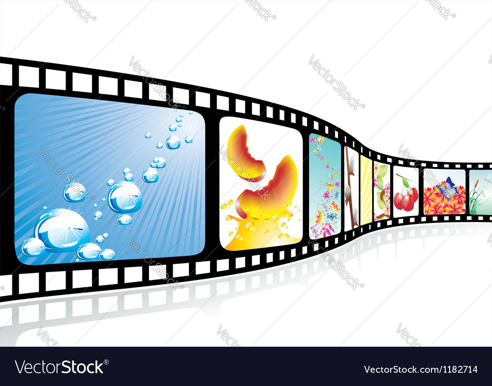 Film strip with nice pictures
