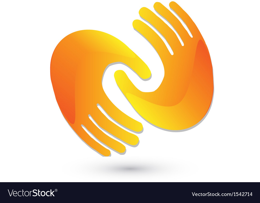 Handshaking logo design vector image
