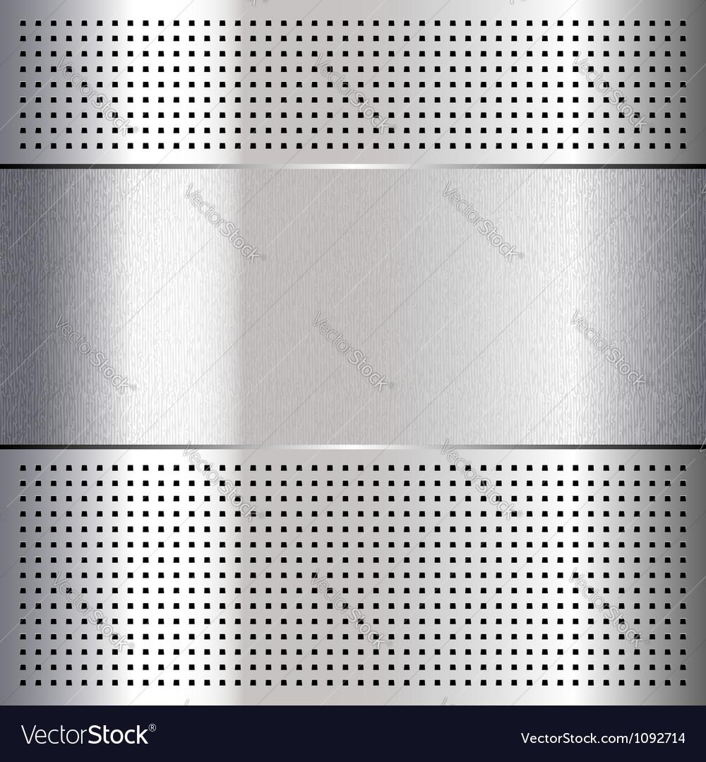Metallic perforated chromium steel sheet 10eps