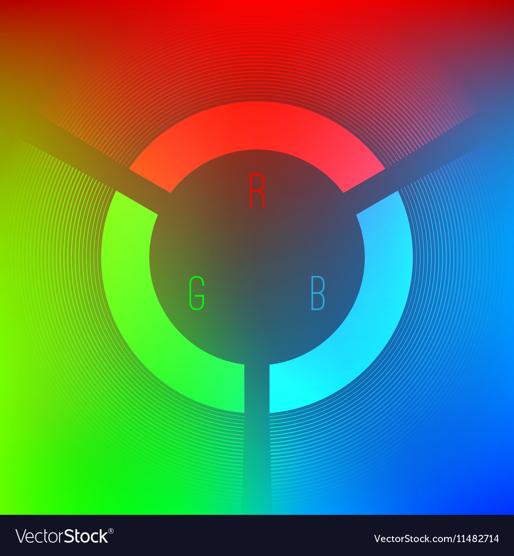 Red Green And Blue Color Wheel Royalty Free Vector Image