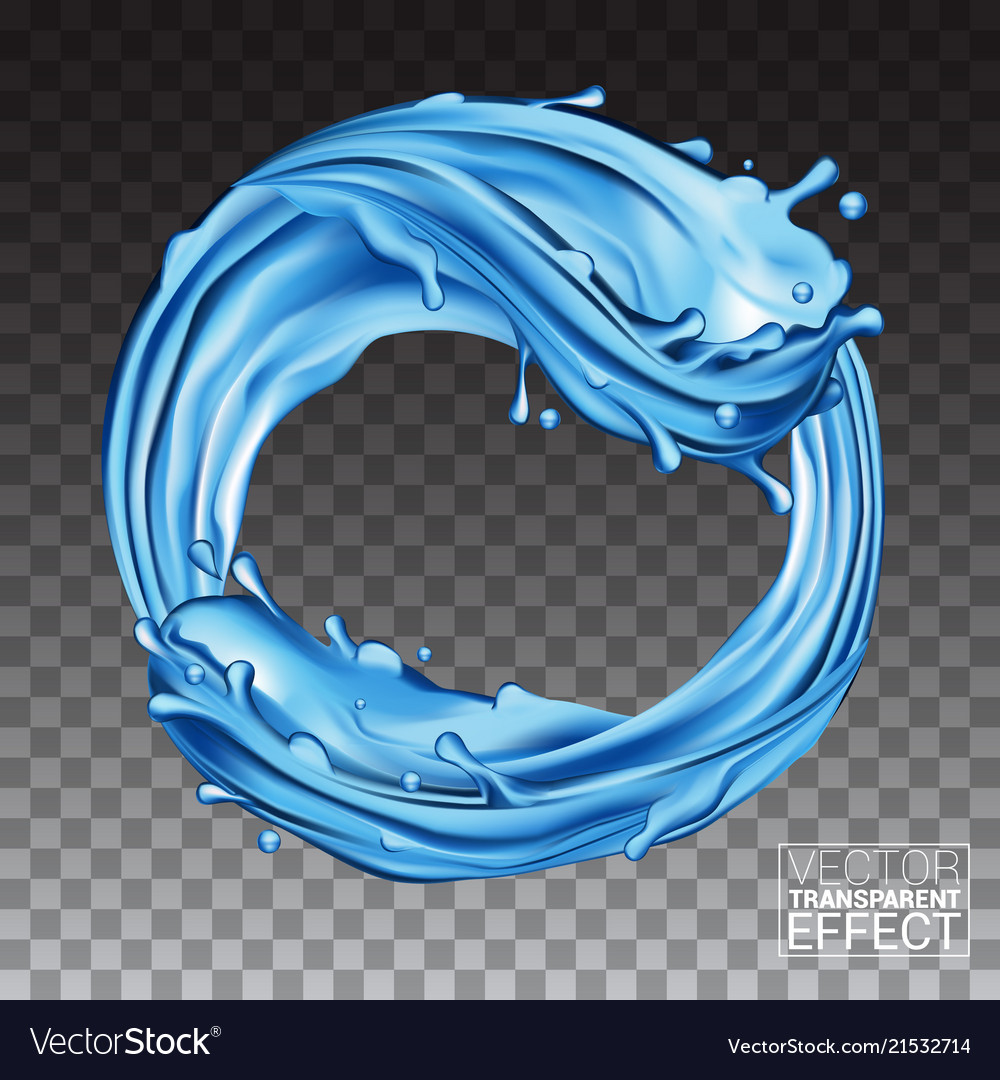 Waves splashing water natural blue liquid in a