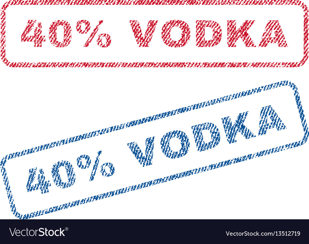 40 percent vodka textile stamps