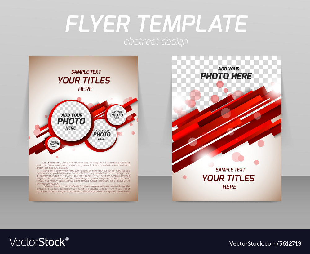 Abstract Flyer Template Design Royalty Free Vector Image