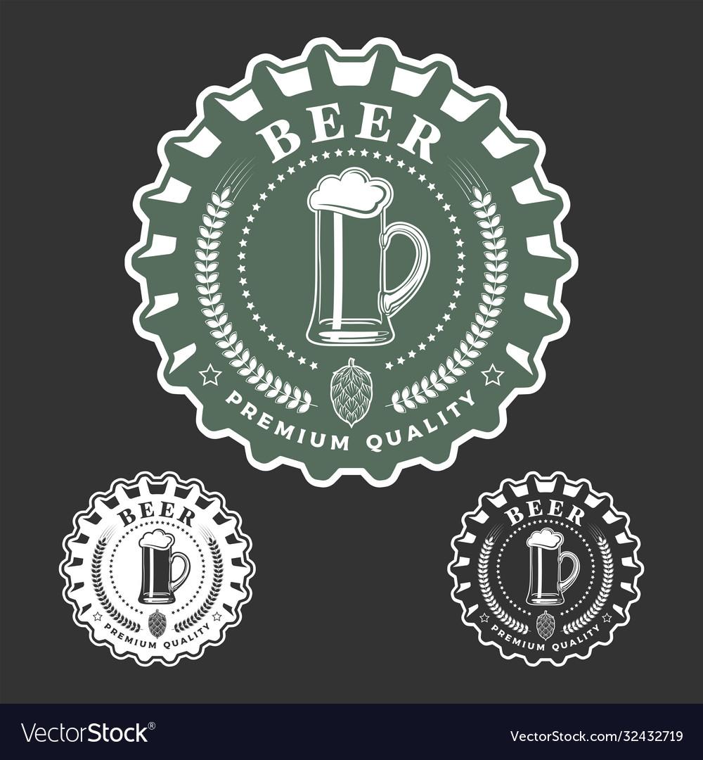 Beer monochrome emblem