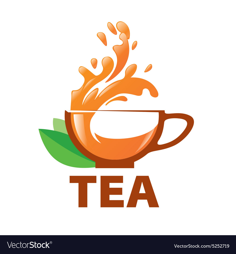 logo splashes in a cup of tea royalty free vector image vectorstock