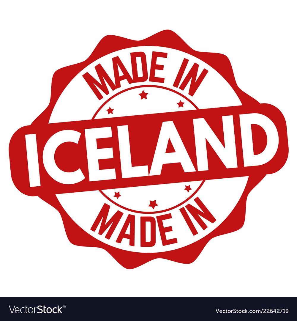 Made in iceland sign or stamp