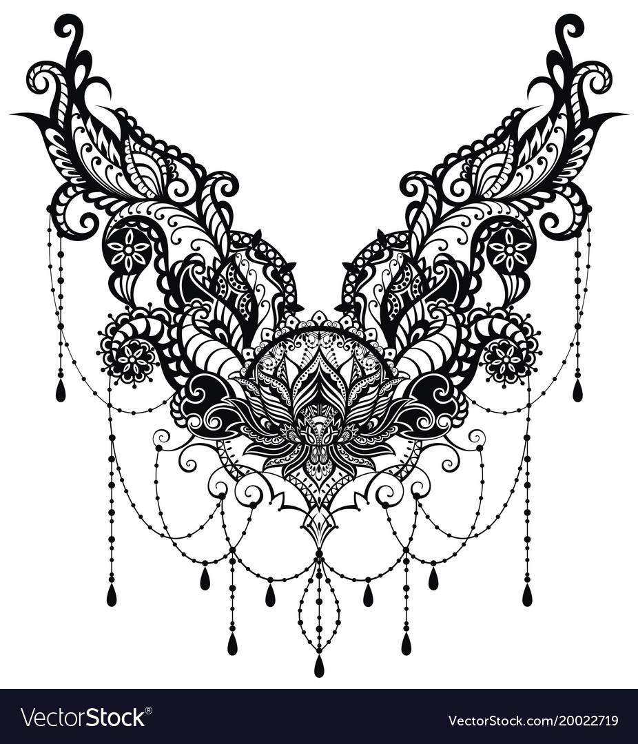 Ornamental lotus flower royalty free vector image ornamental lotus flower vector image mightylinksfo