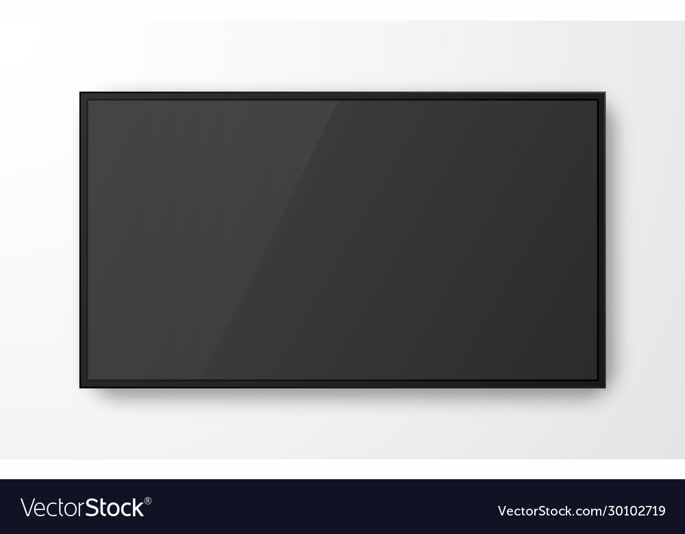 Realistic television screen on transparent