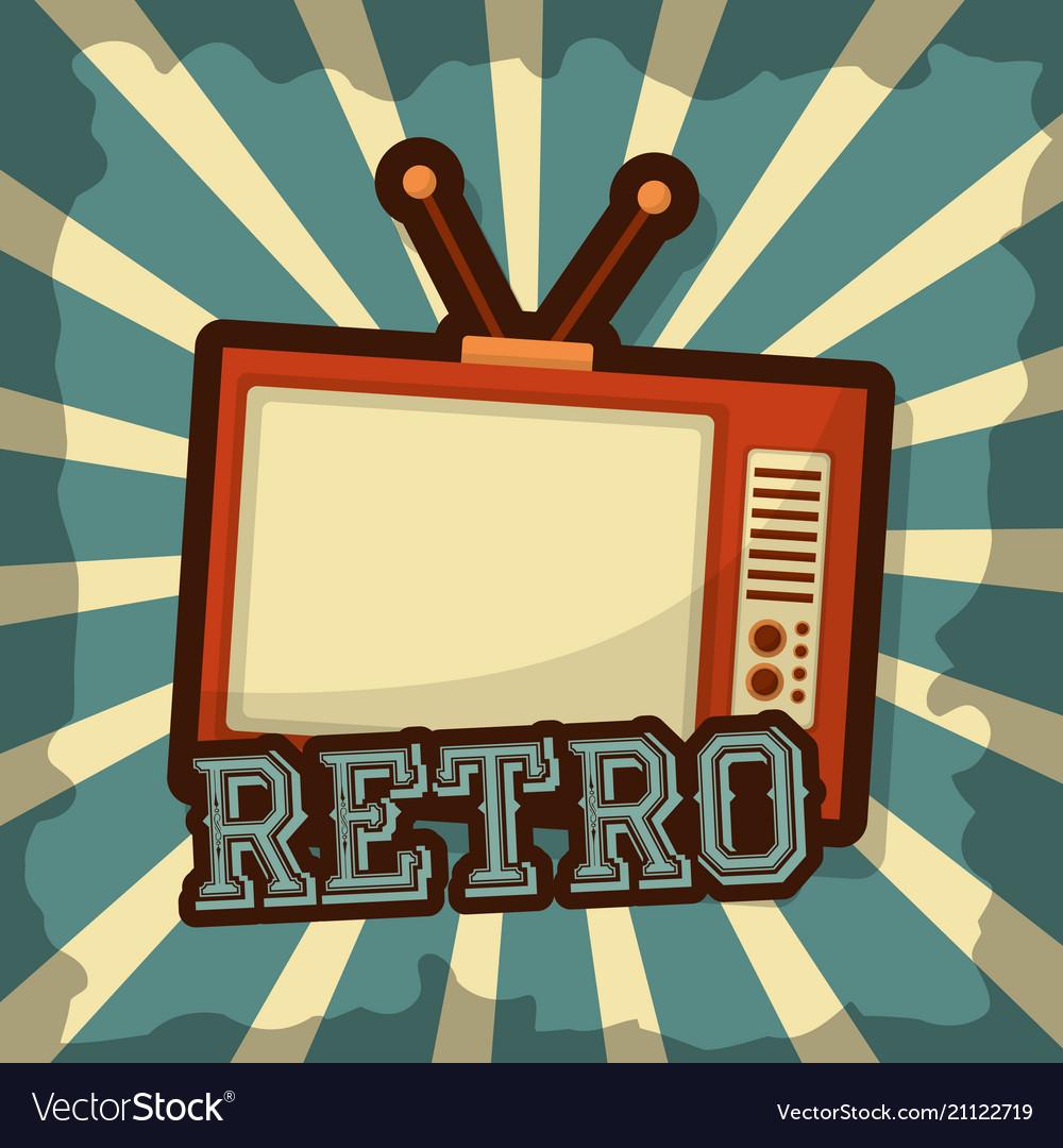 Retro vintage tv