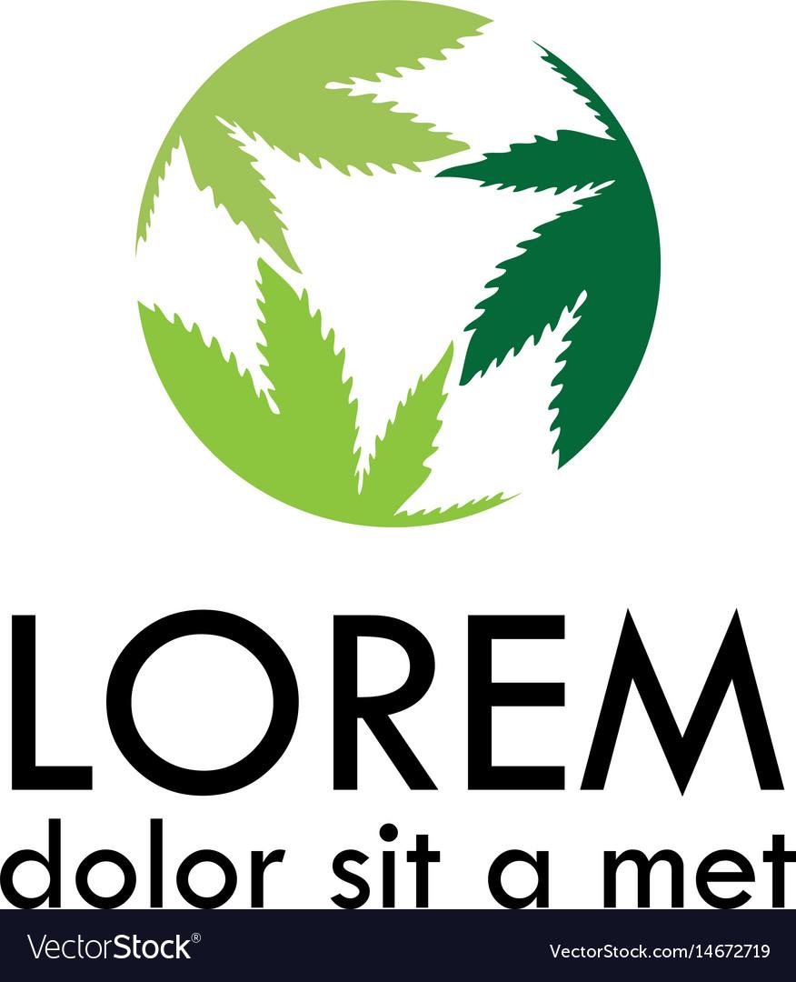 Round marijuana logo