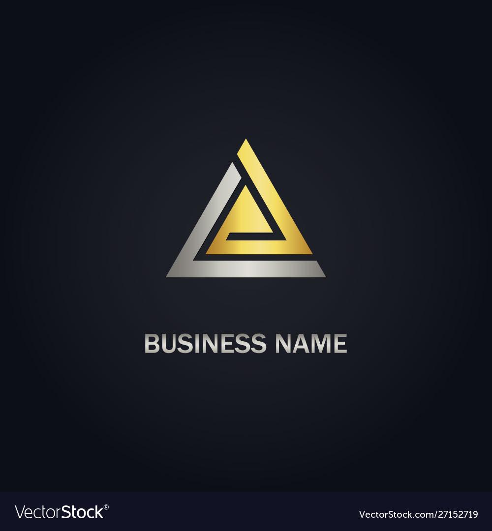 Triangle gold company logo