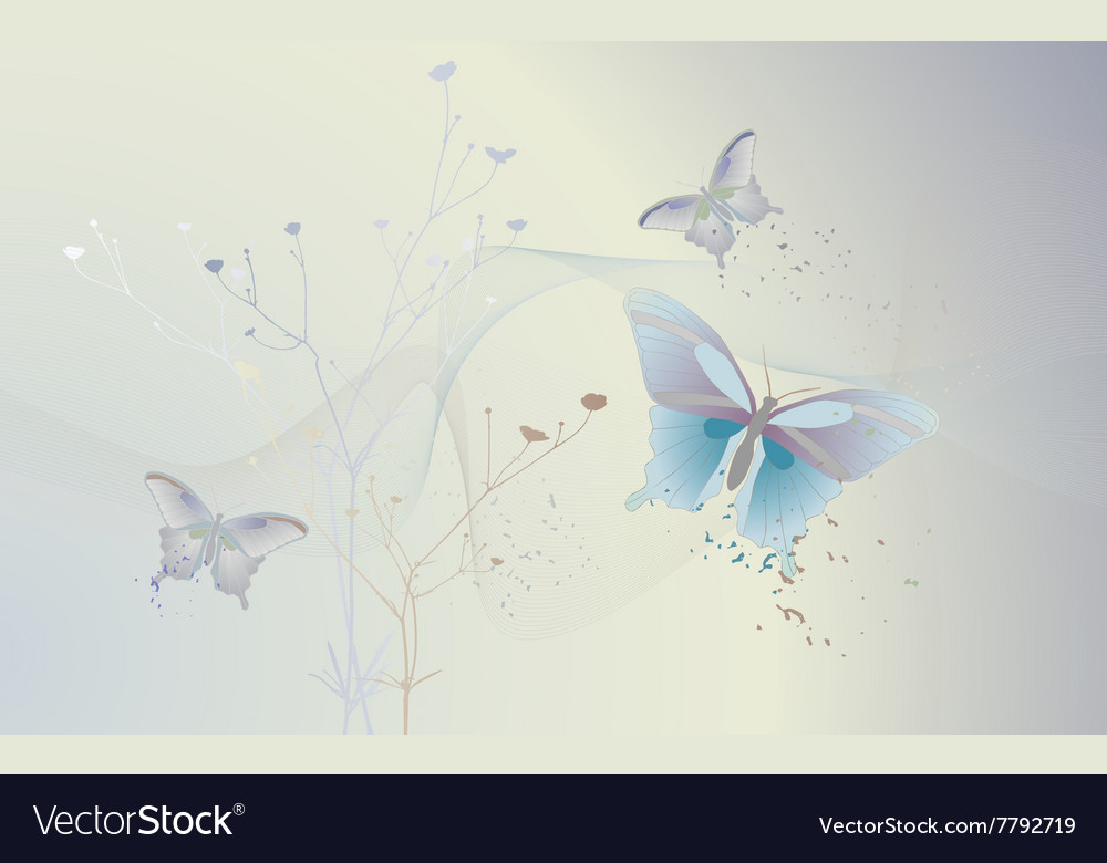 Wallpaper background with a butterfly vector image