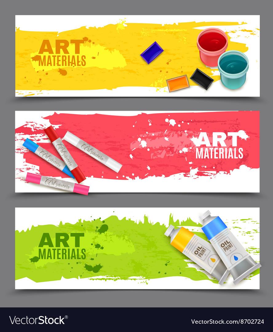 Artistic Horizontal Banners Set