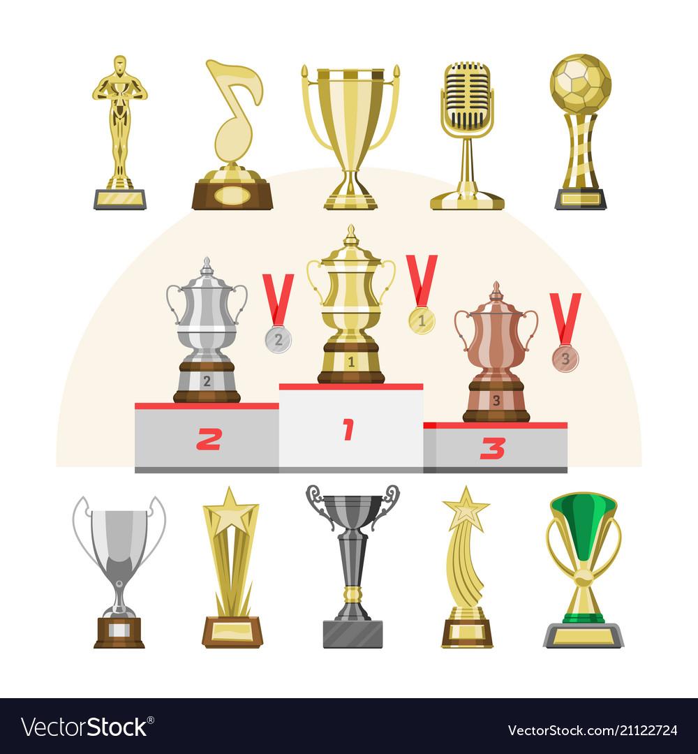 Award trophy winners prize trophycup or