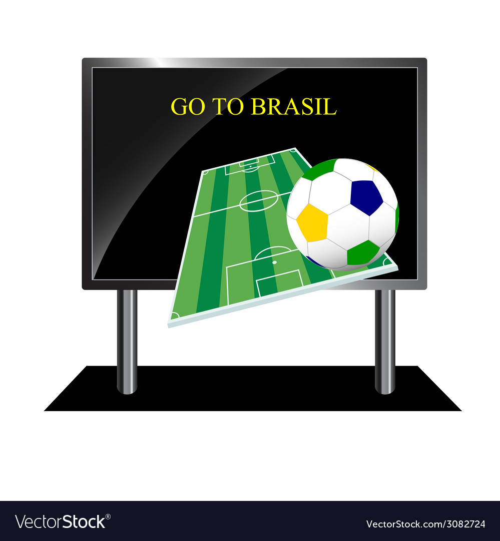Bollboard with message of football