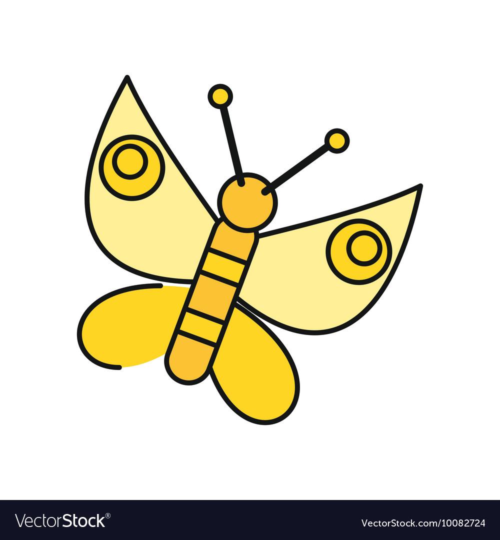 Butterfly Icon in Flat