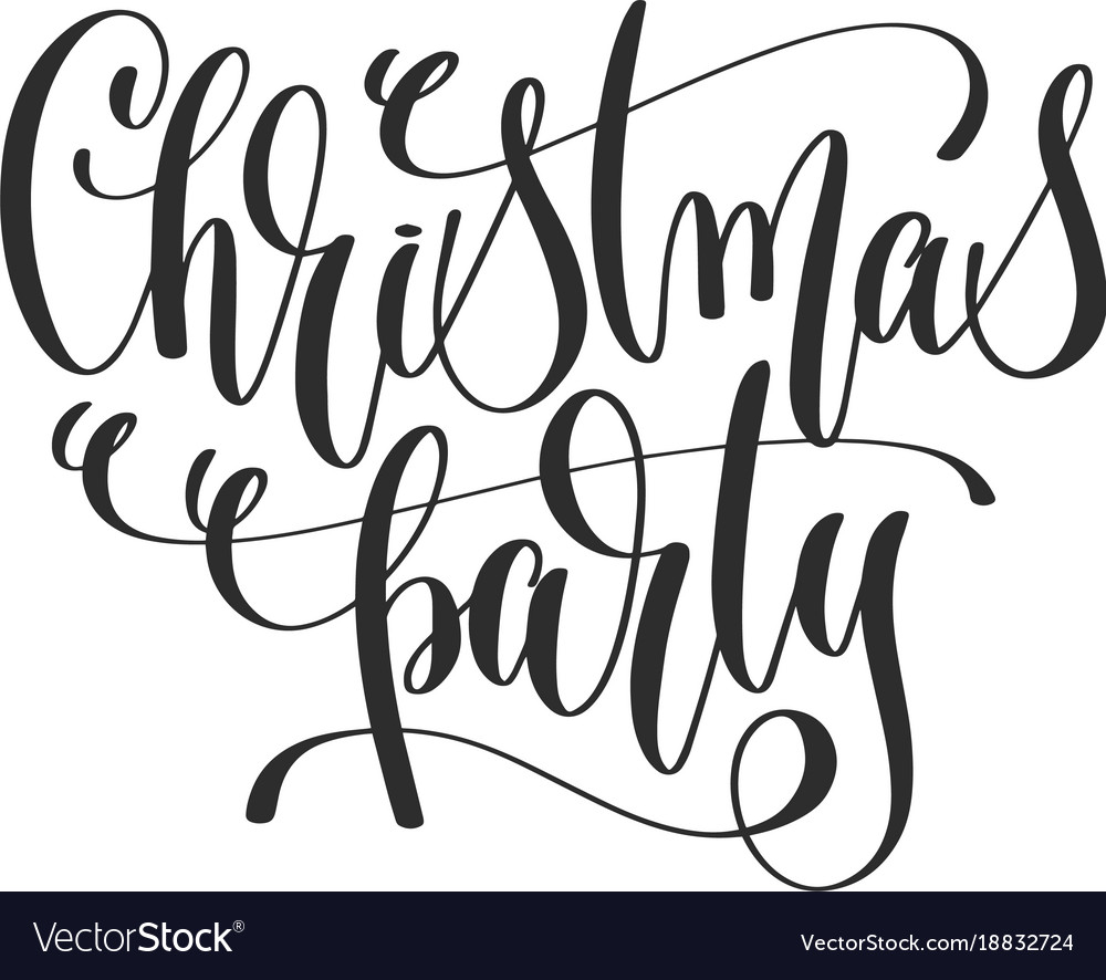 Christmas Party Images Clip Art.Christmas Party Hand Lettering Inscription To