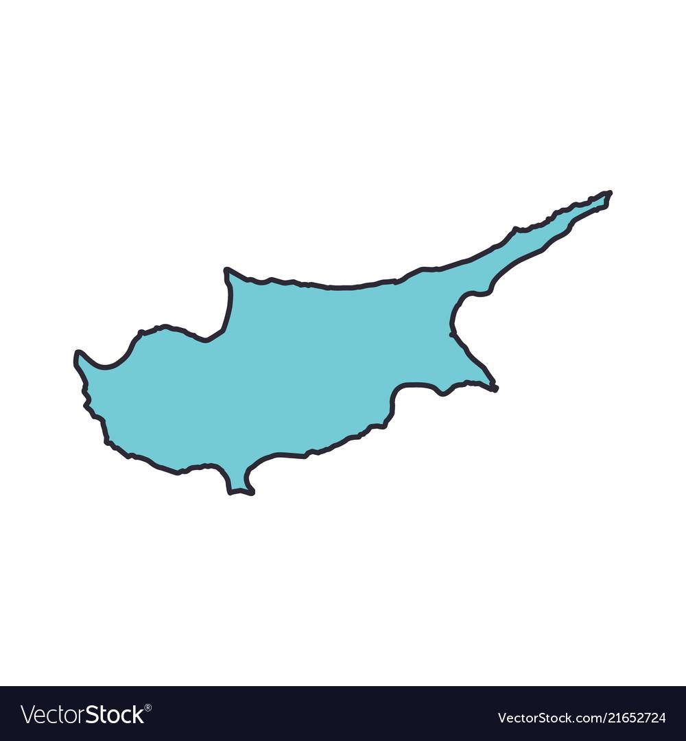 Cyprus map territory icon cartoon style
