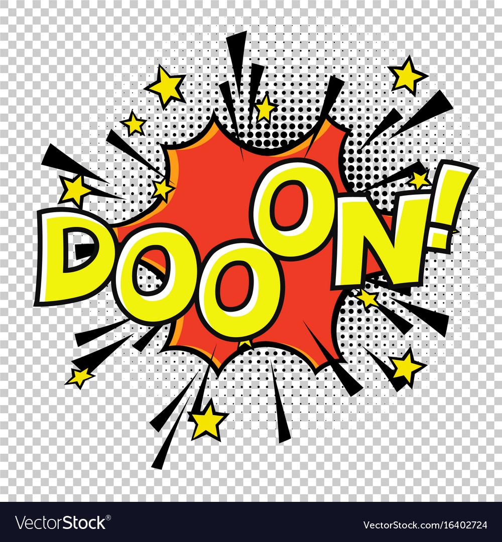 Doon doo-o-n halftone circle on transparent vector image