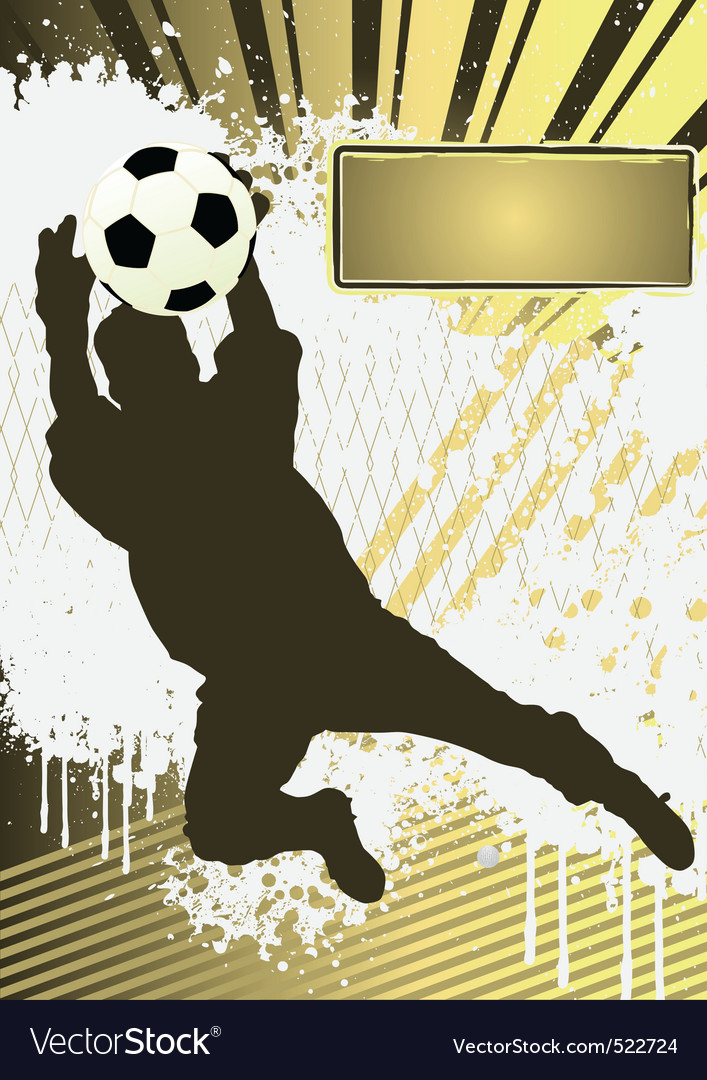 football grunge poster template with soccer player